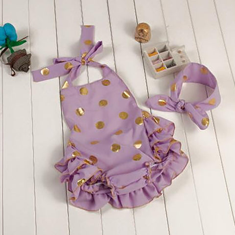 Cotton Candy Romper Purple