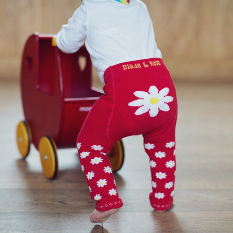 Red Daisy Leggings