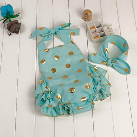 Cotton Candy Romper Blue