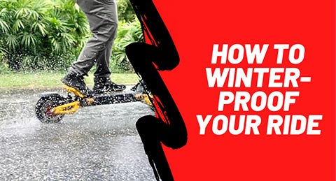 How to Winterize or Weather-Proof your E-Scooter