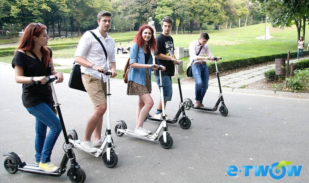 Touring around Singapore with e-scooters