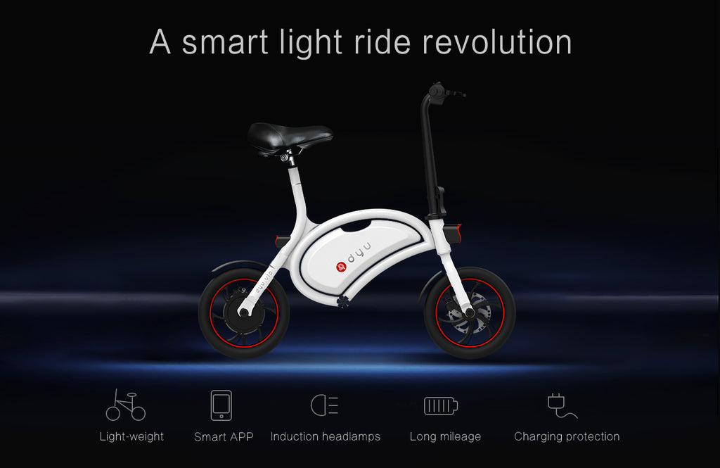 DYU Seated Electric Scooter with smartphone app