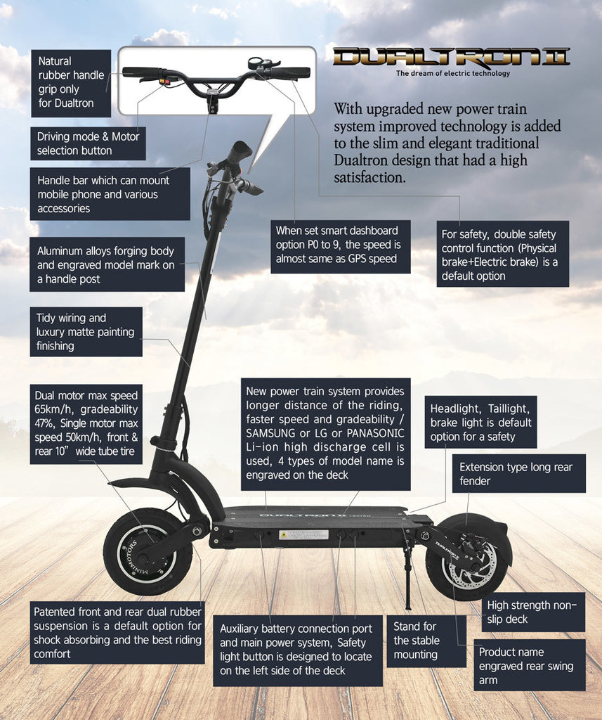 Dualtron II Limited Electric Scooter Features