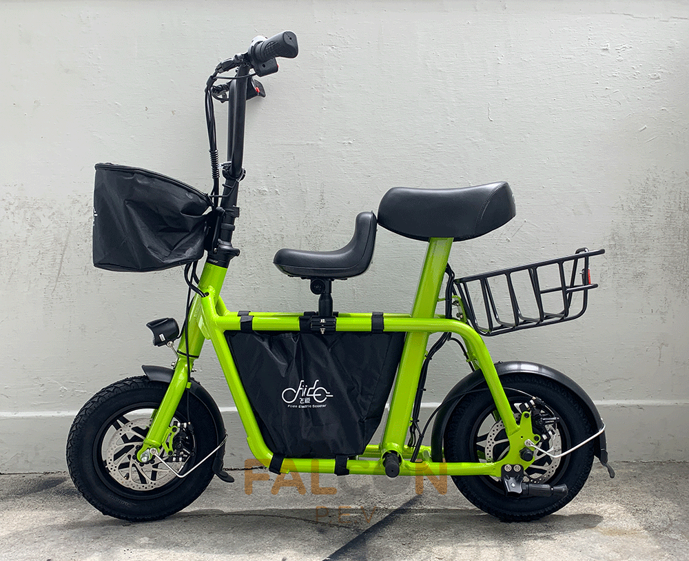 fiido electric scooter green side view