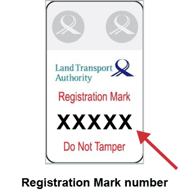 lta electric scooter registration mark number
