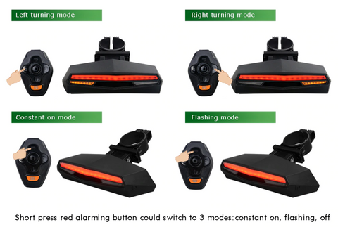 e-scooter turning signal instructions