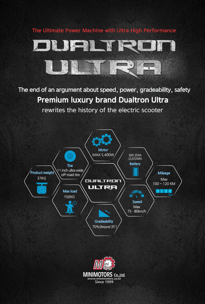 Dualtron ULTRA E-Scooter Specifications