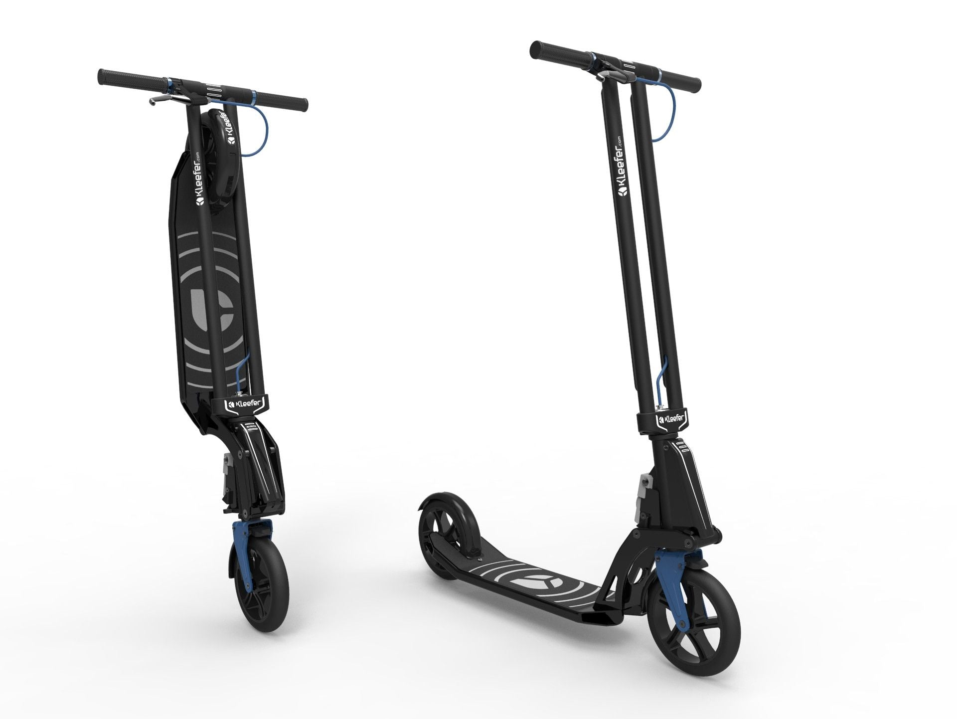Kleefer Pure-180 Kick scooter black colour
