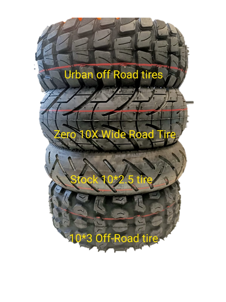 10 x 3 inch All-Terrain Tire and Tube