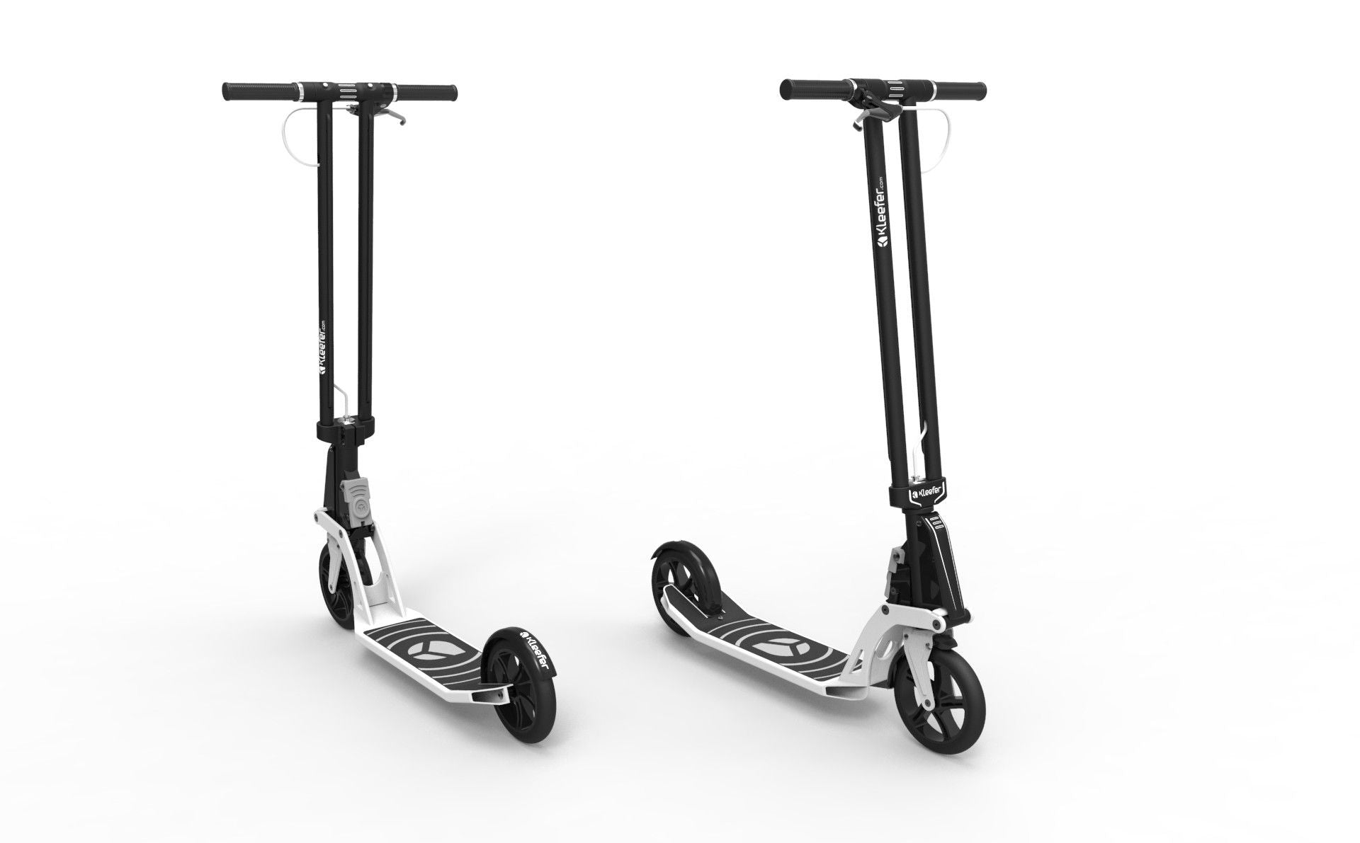 Kleefer Pure-180 Kick scooter white colour