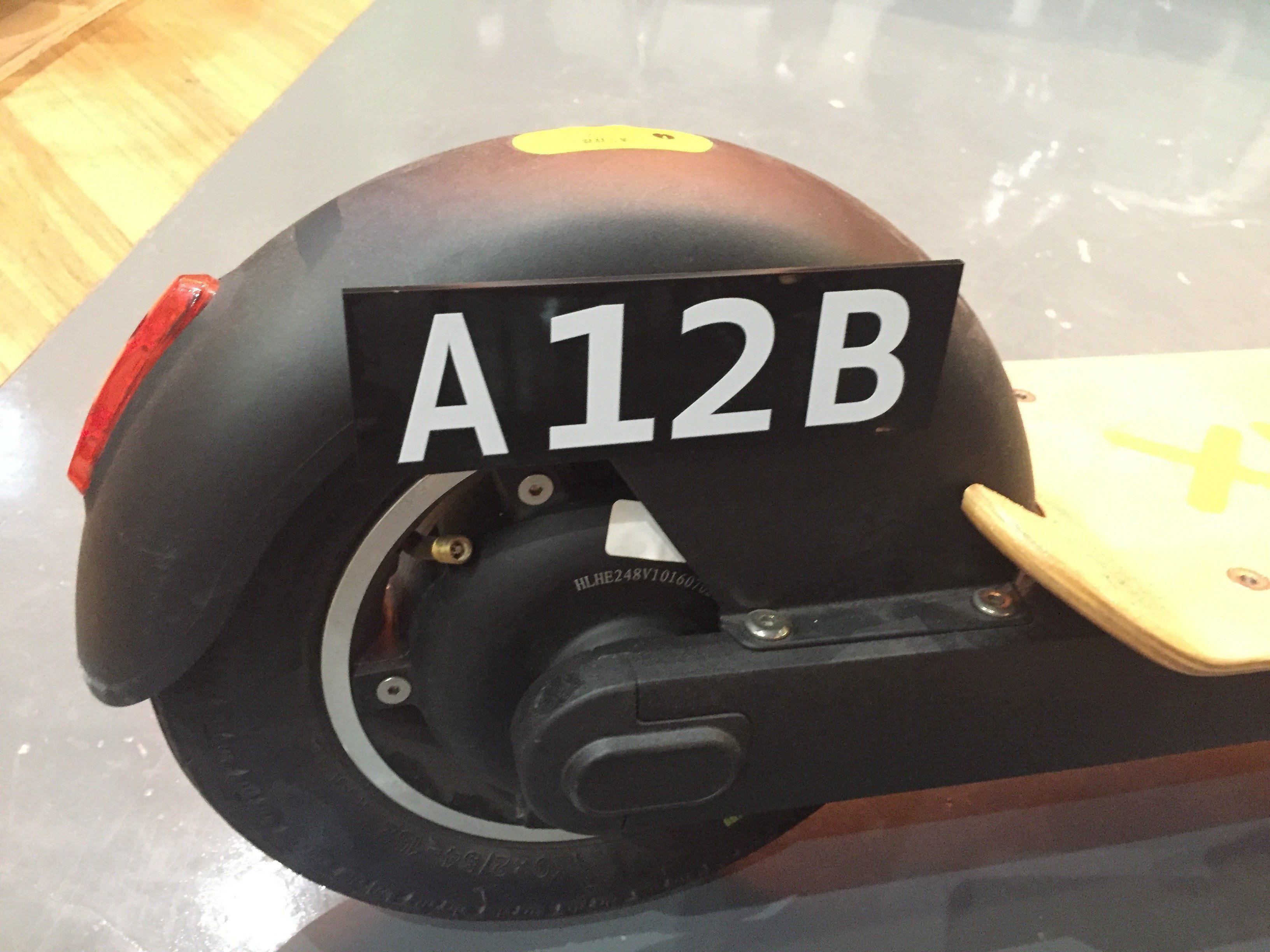 Customised Plate for E-Scooters and E-Bikes