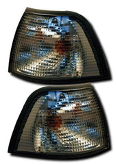 BMW 3-Series E36 Compact Front Indicator Lights - Smoked (94-01)
