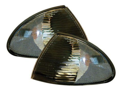 BMW 3-Series E46 Saloon Front Indicator Lights - Smoked (98-01)