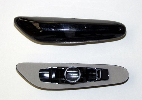 Back view - BMW 1-Series Coupe E82 Side Indicator Lights - Crystal Black
