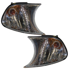 BMW 3-Series E46 Convertible Front Indicator Lights - Chrome (01-03)