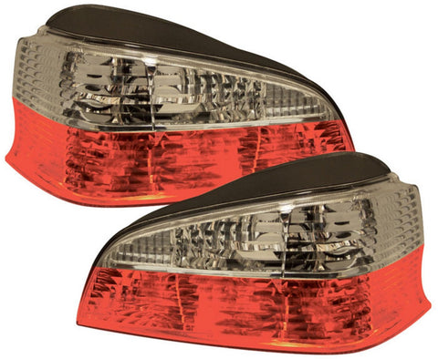 Peugeot 106 MK2 Rear Tail Lights - Red / Clear (96-04)