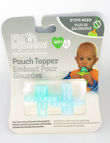 Image of Family Pack of reusable pouches with bottom opening zip x 6 and Pack of pouch toppers