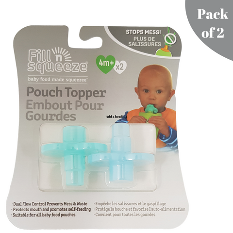 Silicone Pouch Toppers - Pack of 2