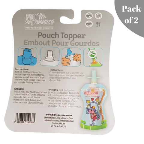Image of Silicone Pouch Toppers - Pack of 2
