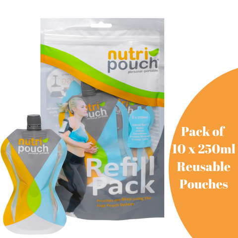 Image of Pack of 10 x 250ml Large Pouches Suitable for Children 2+ & Adults