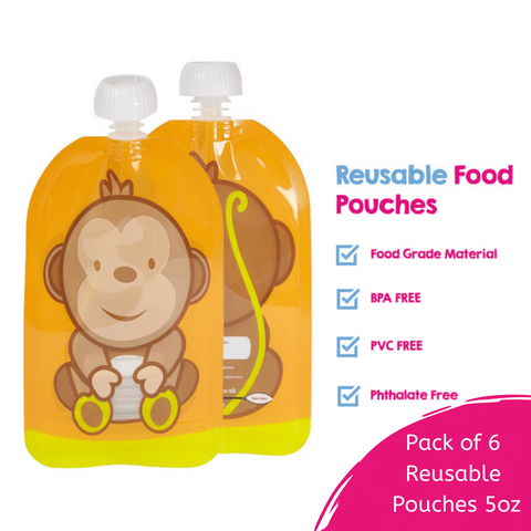 Zipper Pouches For Lumpy Food & Easy Cleaning