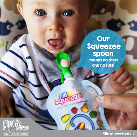 FILL N SQUEEZE BABY POUCH WEANING SPOONS