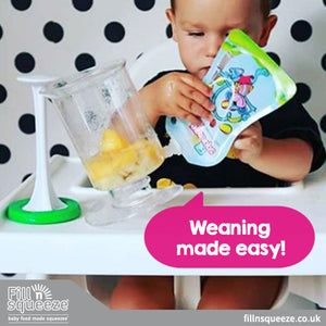 Pack of 10 x 150ml weaning reusable Pouches. Non Spill. Toddlers