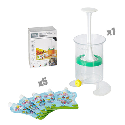 Baby Food Pouch Maker Kit - Bargain Kit - includes 5 Pouches only + FREE Cooler Bag only £19.99