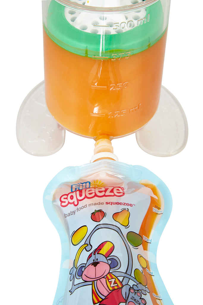 Fill N Squeeze Weaning Pouch Maker Kit For Baby Food Includes Filler S