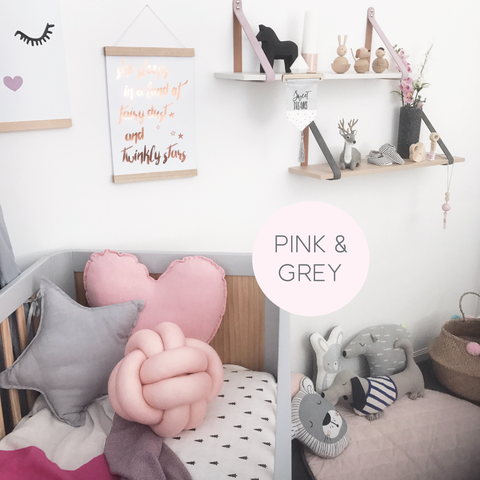 Pink & Grey themed nursery