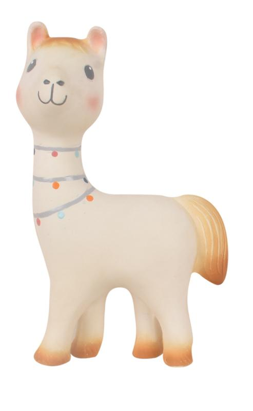 Lilith the Llama Natural Rubber Rattle Toy - Tikiri