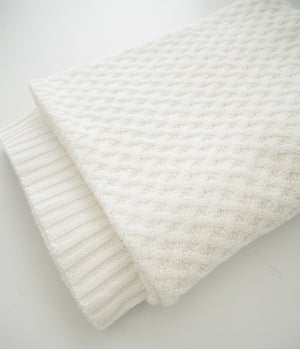 White Diamond Knit Baby Blanket - Snuggle Hunny Kids