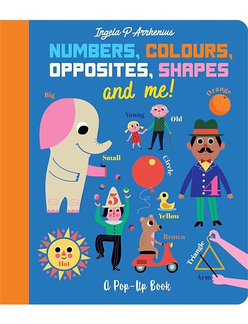 Numbers, Colours, Opposites, Shapes and Me! Kids Book