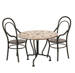 Dining Table Set with 2 Chairs - Maileg