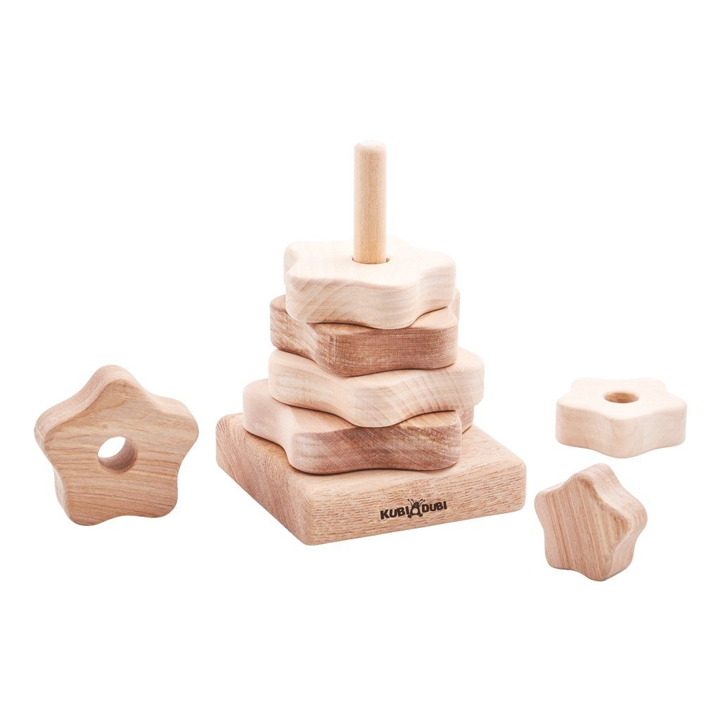 Wooden Stacking Pyramid - Modern - Happy Go Ducky
