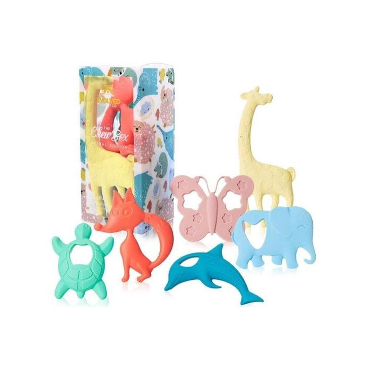 Animal Teethers Chewbox - Evolved Parent Co