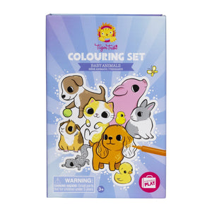 Colouring Set - Baby Animals - Tiger Tribe