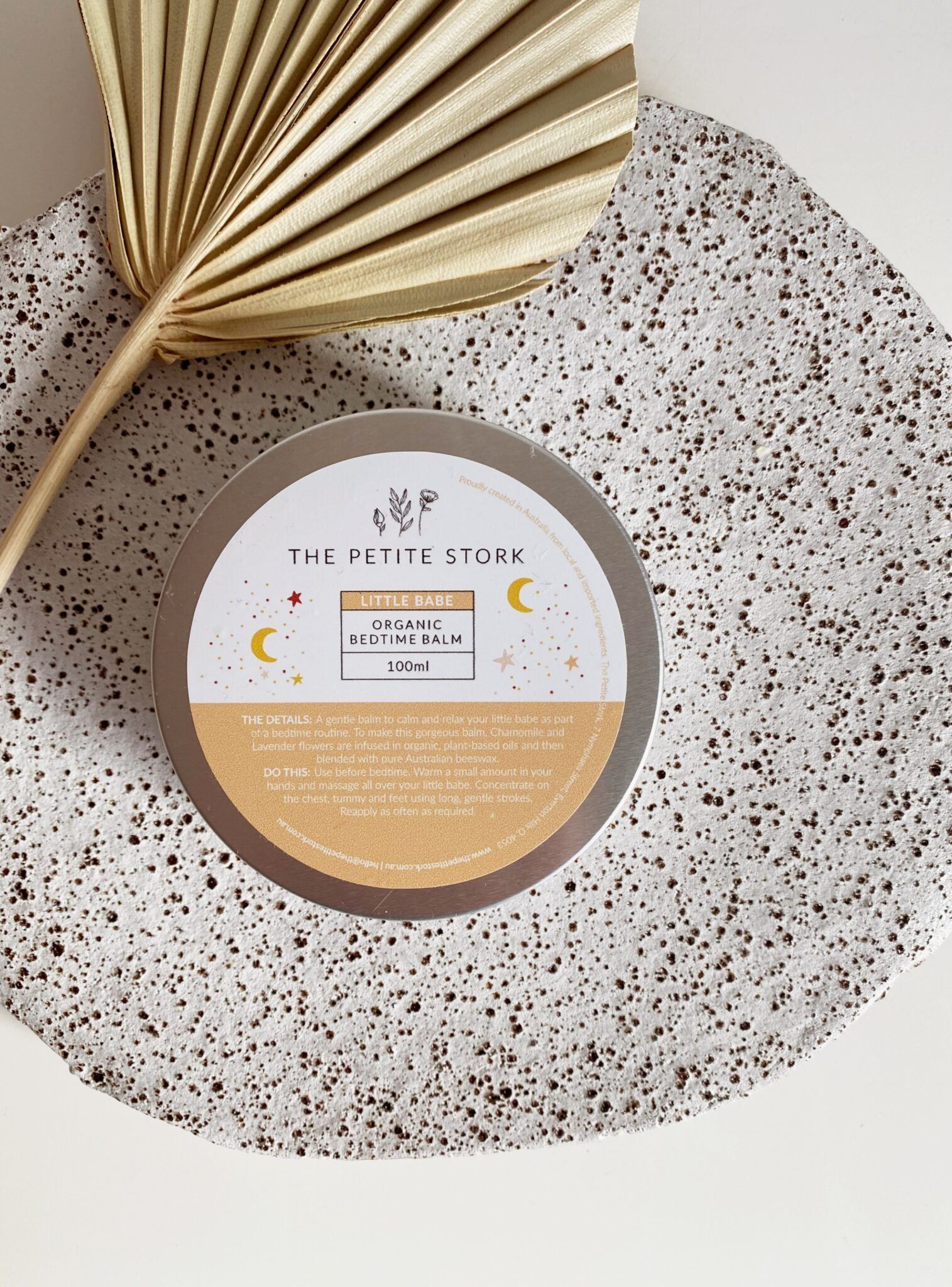 Little Babe Organic Bedtime Balm - The Petite Stork