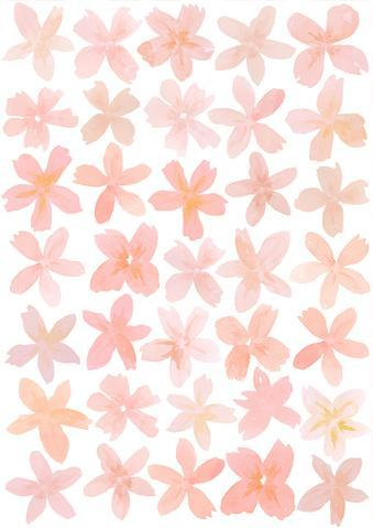 Happy Flowers- Pink - Fabric Wall Stickers - Sailah Lane
