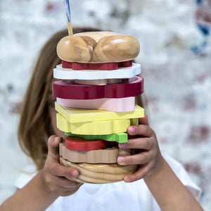 Stacking Burger Wooden Puzzle - Make me Iconic