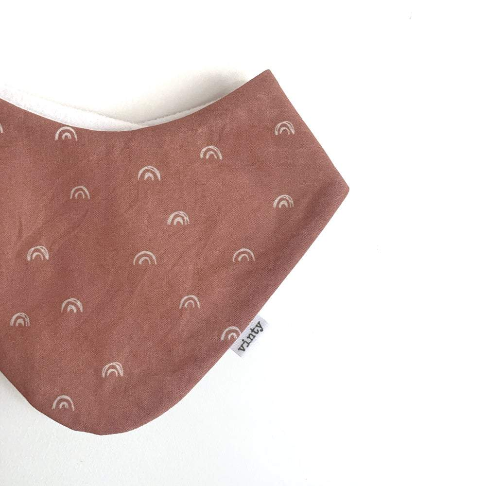 Rust Rainbow Dribble Bib - Vinty NZ