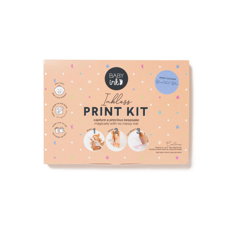 Blue-  Ink-less Print Kit - Baby Ink