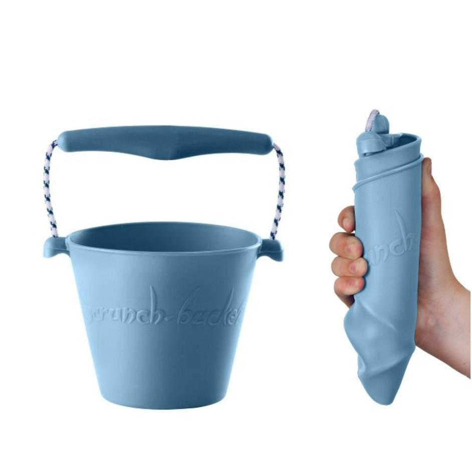 Collapsible Bucket - Duck Egg Blue - Scrunch