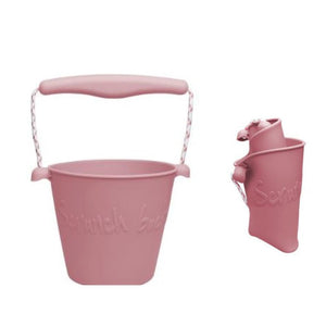 Collapsible Bucket - Dusty Rose - Scrunch