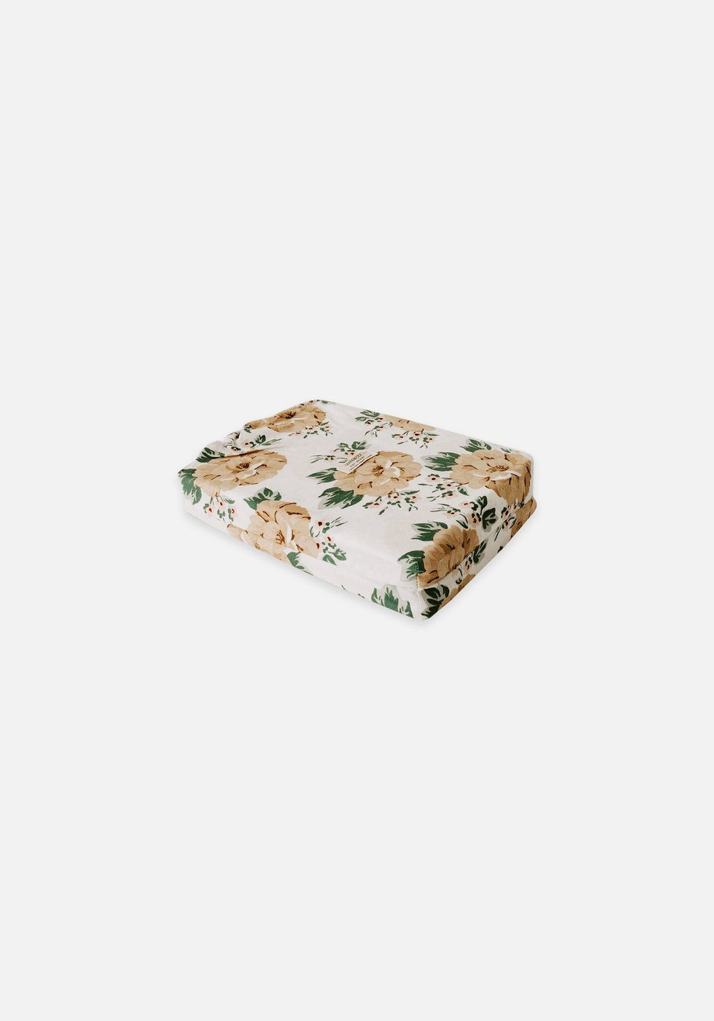 Mustard Floral fitted cot sheet - Miann & Co