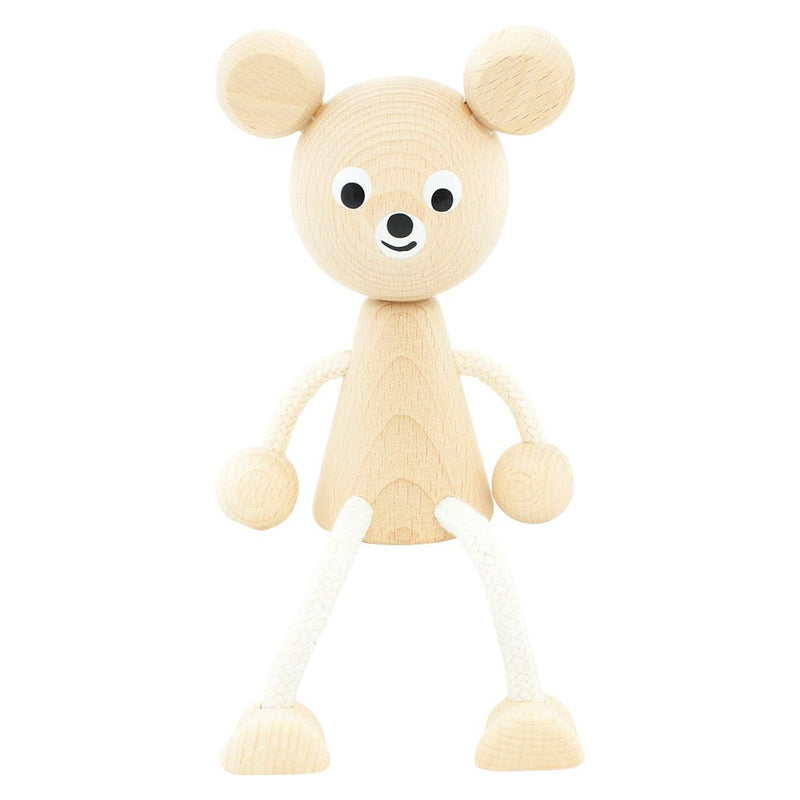 Wooden Sitting Bear - Sophie - Happy Go Ducky