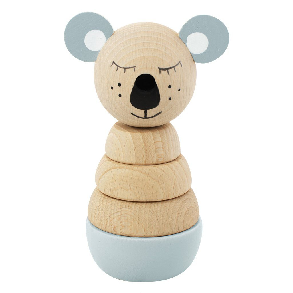 Wooden Stacking Koala Puzzle - Sydney - Happy Go Ducky