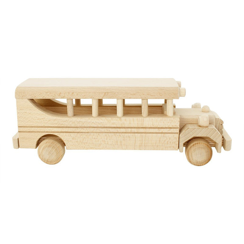 Wooden Vintage Style School Bus - Bennett - Happy Go Ducky