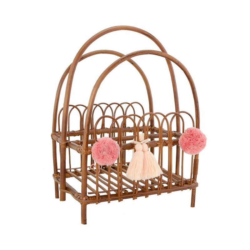 Wicker Book Stand - Natural - Happy Go Ducky