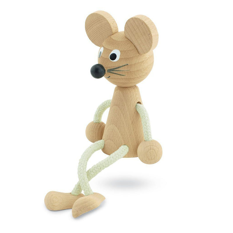 Wooden Sitting Mouse - Bentley - Happy Go Ducky